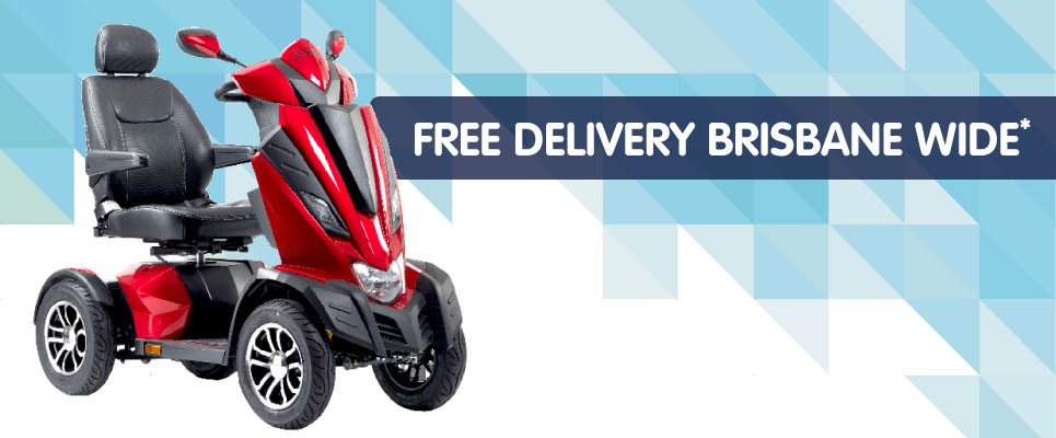 Free Delivery for Mobility Scooter, Wheelchair and Equipment Brisbane Wide
